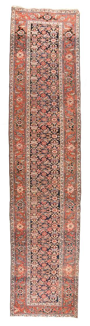 "Antique Persian Heriz Long Rug, 3'6' x 15'3"""