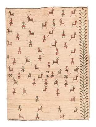 Vintage Persian Gabbeh, 4'3'' x 5'10''
