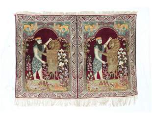 "Antique Persian Lavar Kerman, 2'9"" x 4'2"""