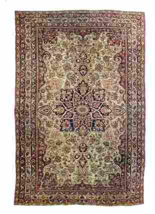 Antique Persian Lavar Kerman, 10'1'' x 14'11''