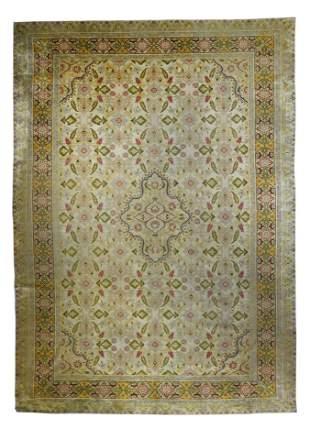 """Antique Silk Turkish Sivas, 9'10"""" x 14'"""