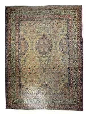 "Antique Persian Lavar Kerman, 10'3"" x 13'5"""