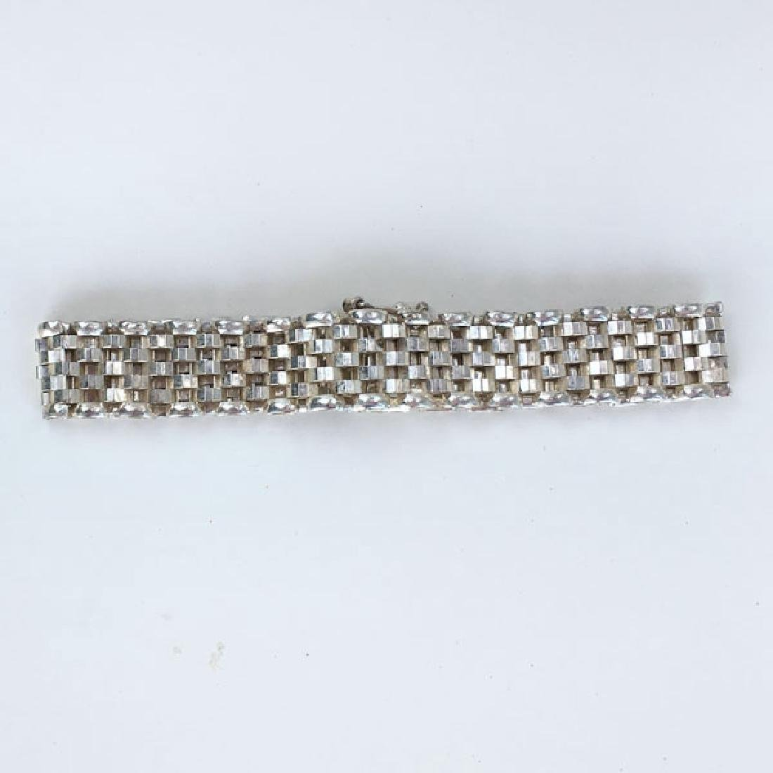 Sterling silver mesh bracelet with hidden clasp and