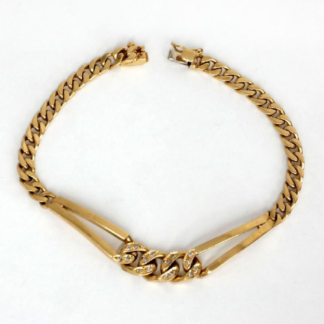 18k yellow gold CUBAN LUNK diamond bracelet - 3