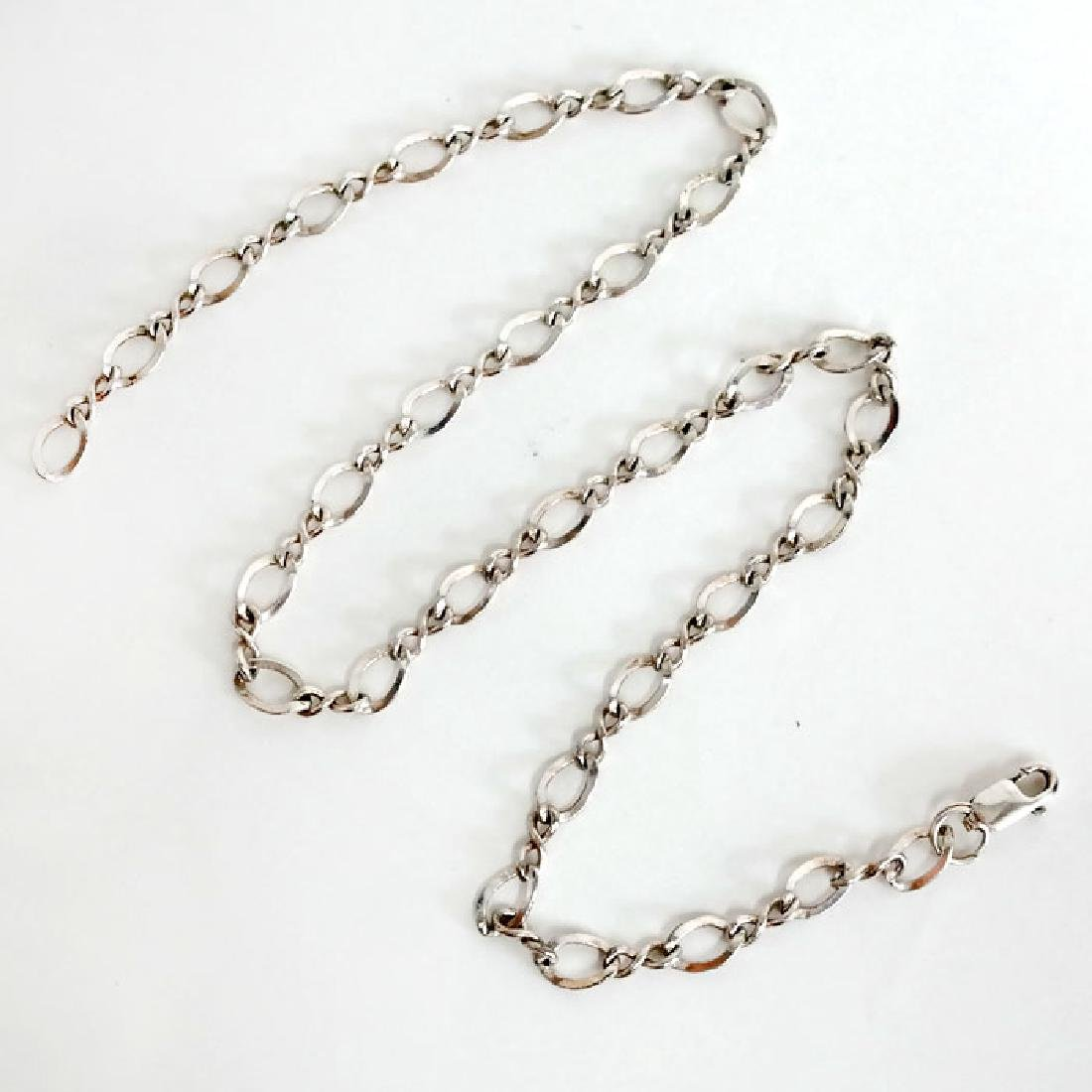 Vintage sterling silver diamond cut curved fancy links