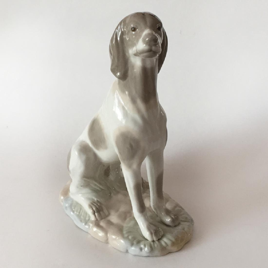 NADAL: Hand made in Spain SITTING DOG figurine, signed - 6