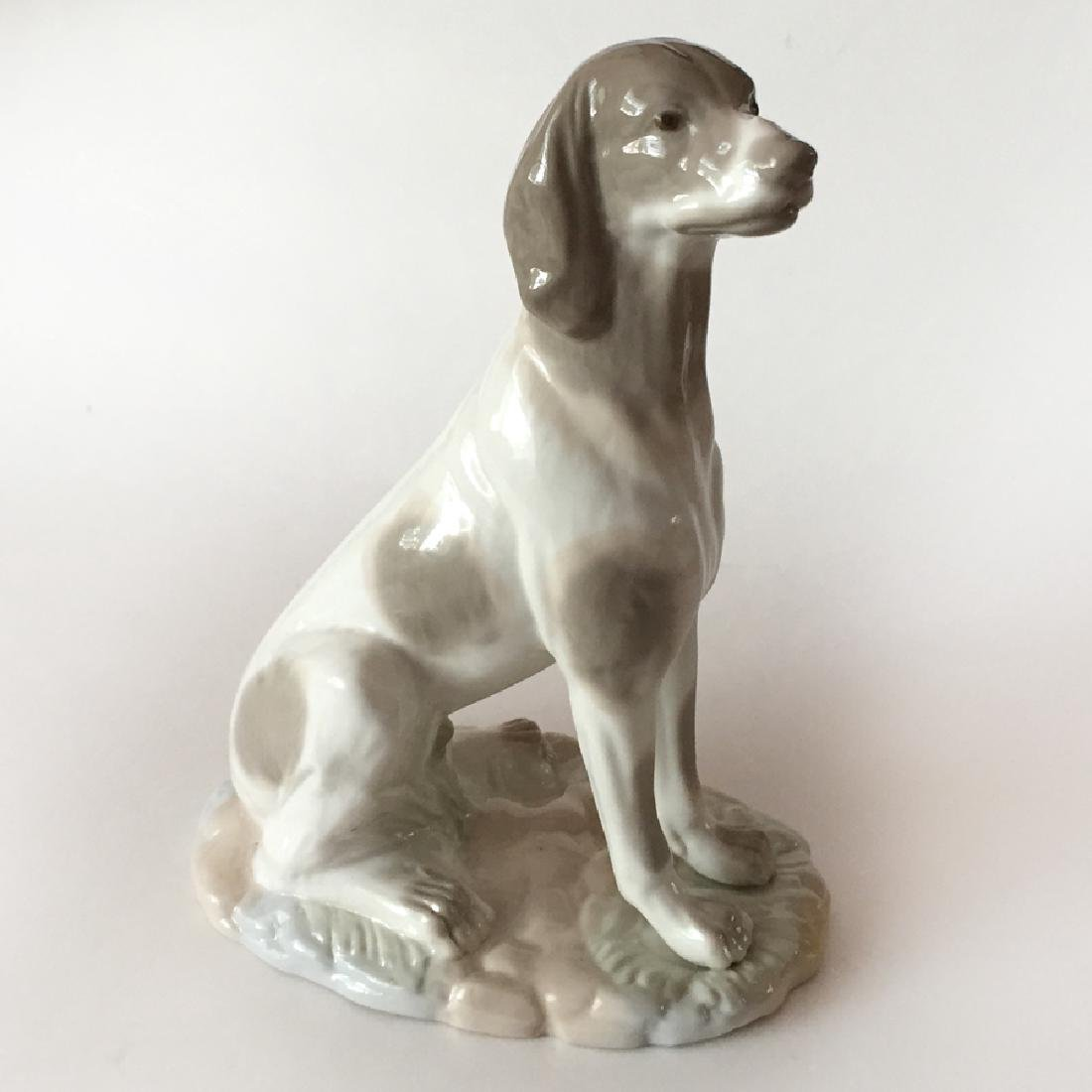 NADAL: Hand made in Spain SITTING DOG figurine, signed