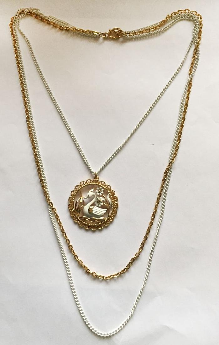Gold plated and white color chains and same matching in - 6
