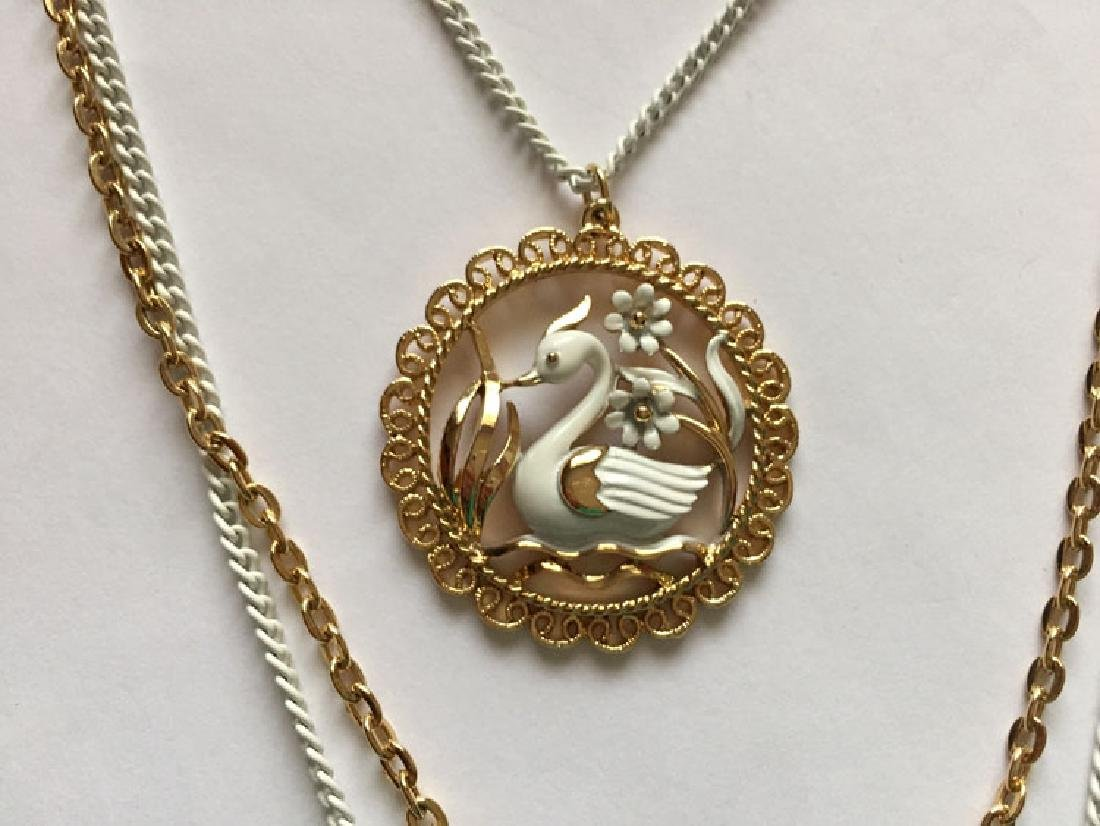Gold plated and white color chains and same matching in - 2
