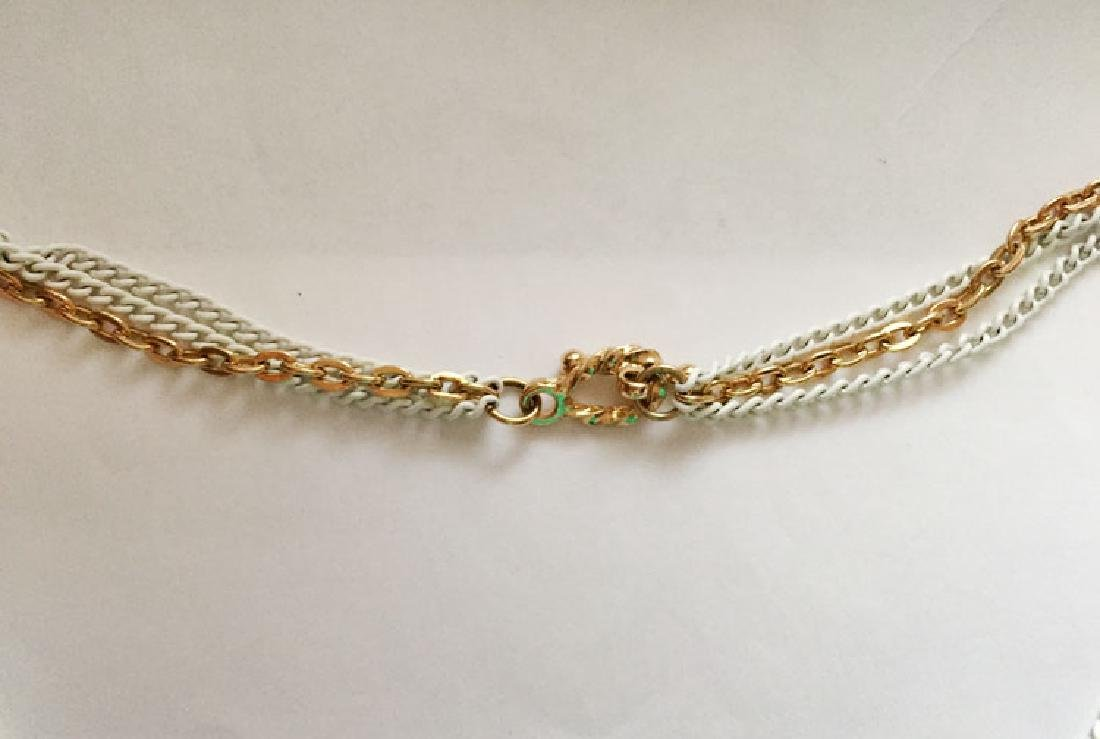 Gold plated and white color chains and same matching in - 3