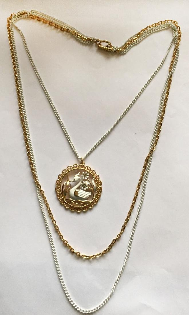 Gold plated and white color chains and same matching in - 5