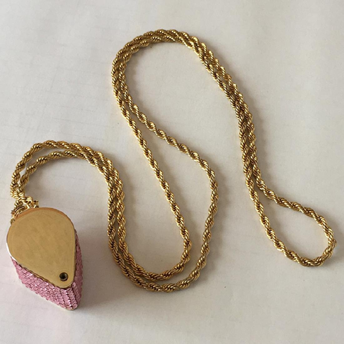 Gold plated professional loop with Swarovski pink color
