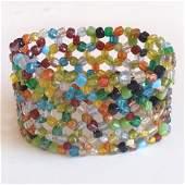 Multicolor beads stretchable bracelet