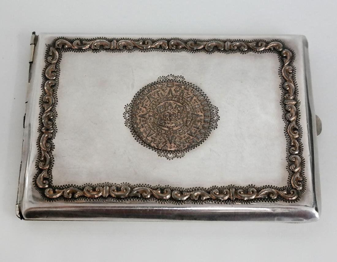 Vintage sterling silver and gold plated cigarette case