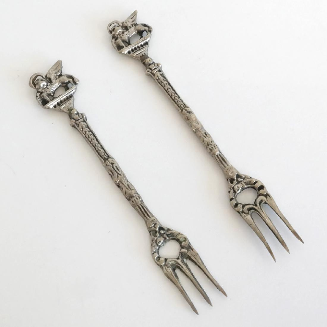 Antique silver plated pair of cocktail serving small