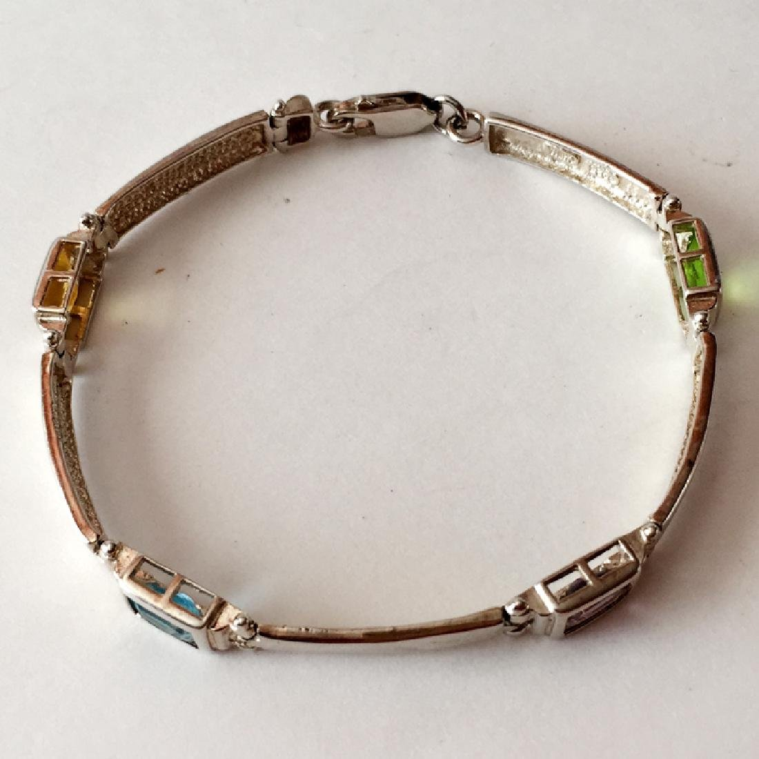 Sterling silver bracelet with lobster clasp and - 3