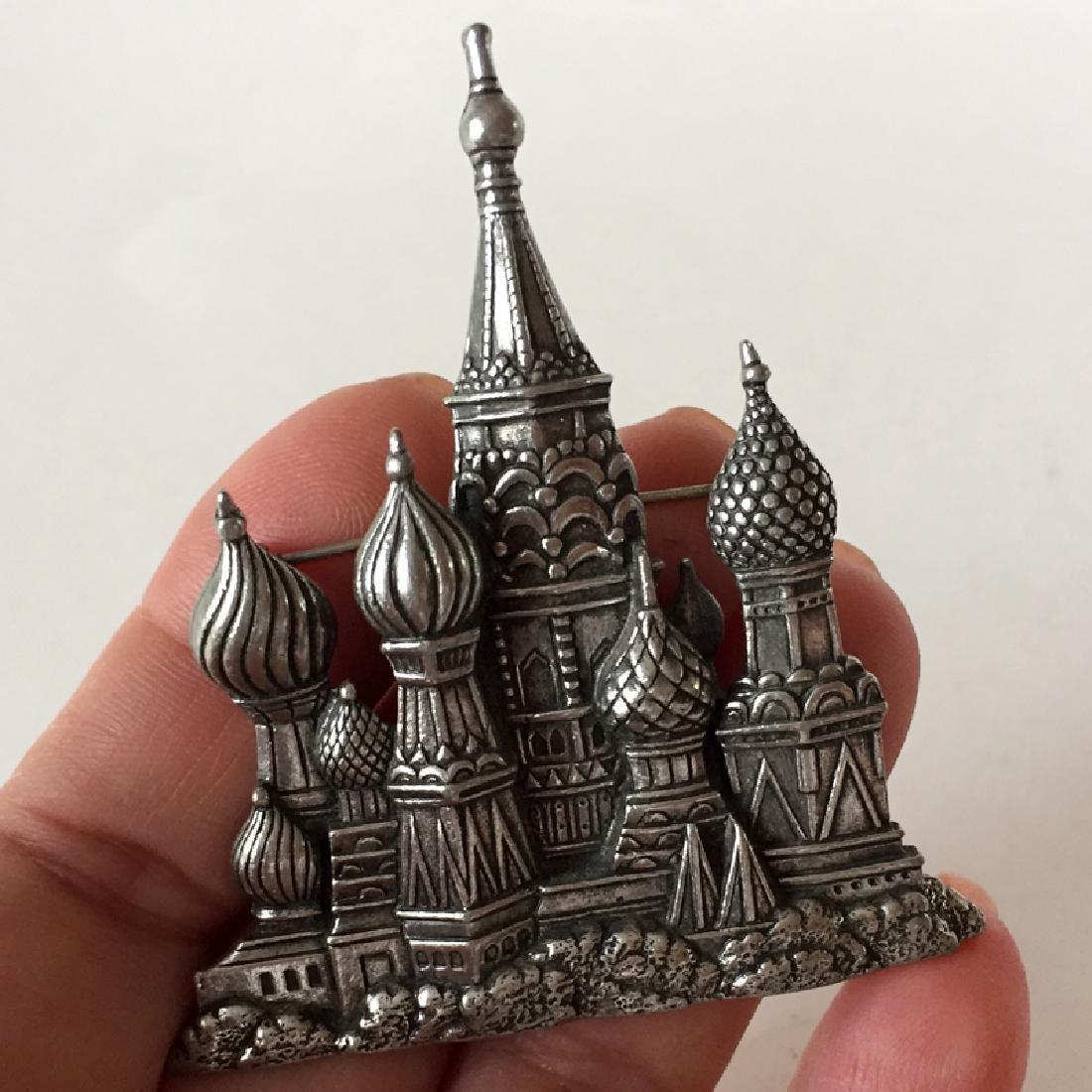 """J.J.: Silver tone black antique finish """"St. Basil's"""