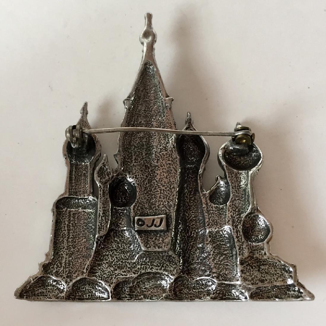 """J.J.: Silver tone black antique finish """"St. Basil's - 3"""