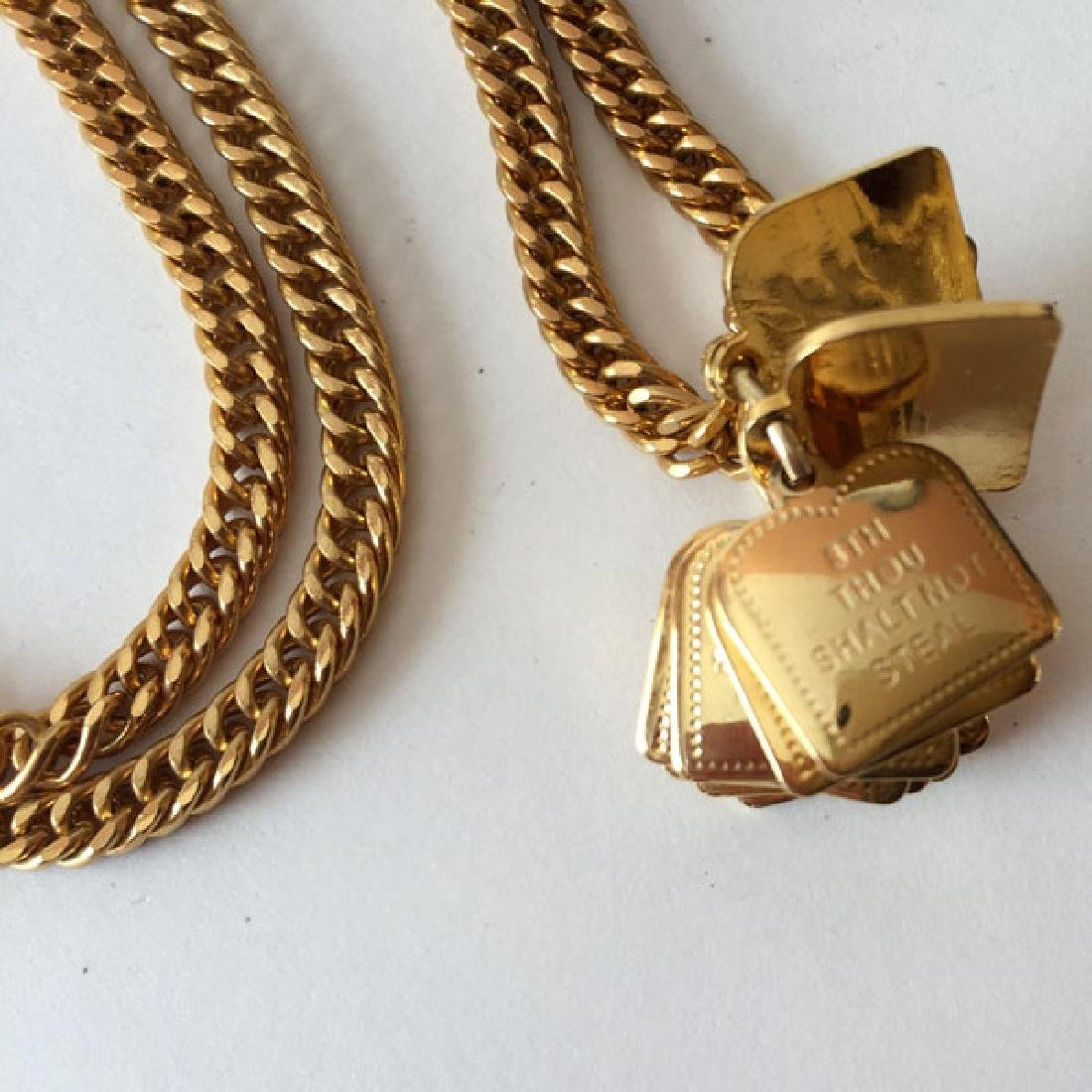 "Gold plated chain with ""10 Commandments"" dangling - 3"
