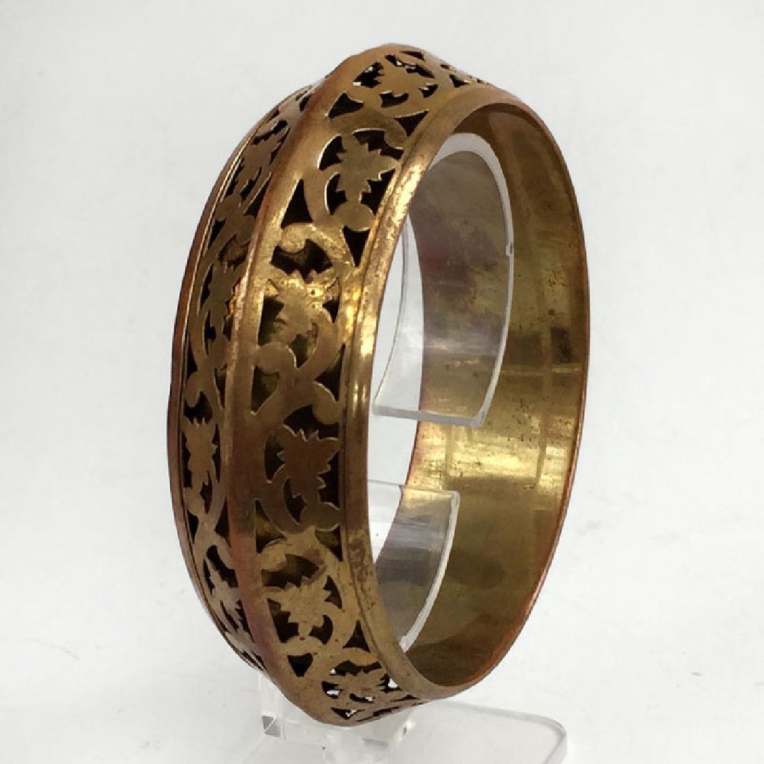 Vintage bangle bracelet antique color with nice design - 2