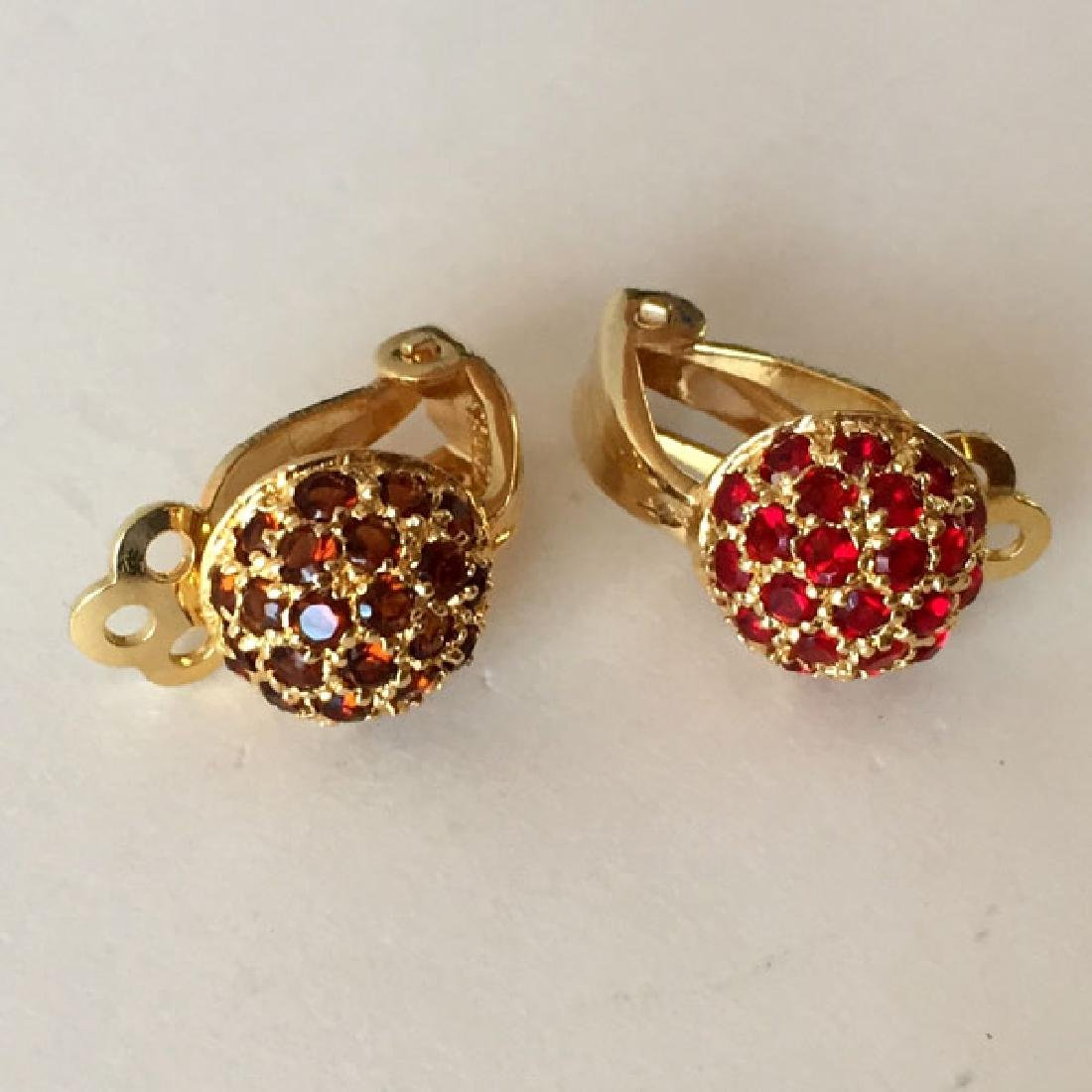 Gold plated sterling silver dome shaped ear clips with