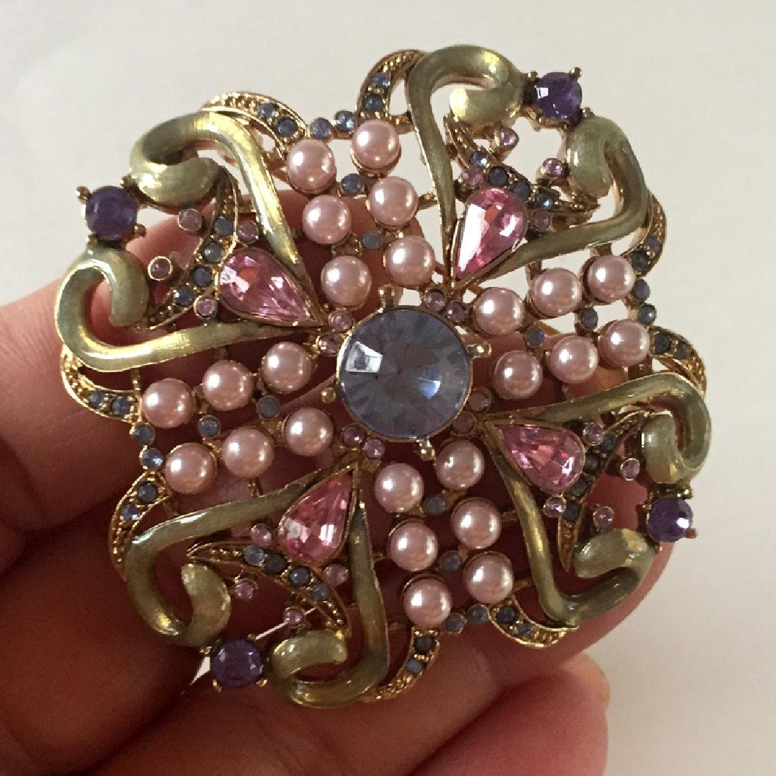 Antique color metal with multicolor rhinestones and - 2