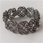 Vintage sterling silver filigree bracelet with hidden