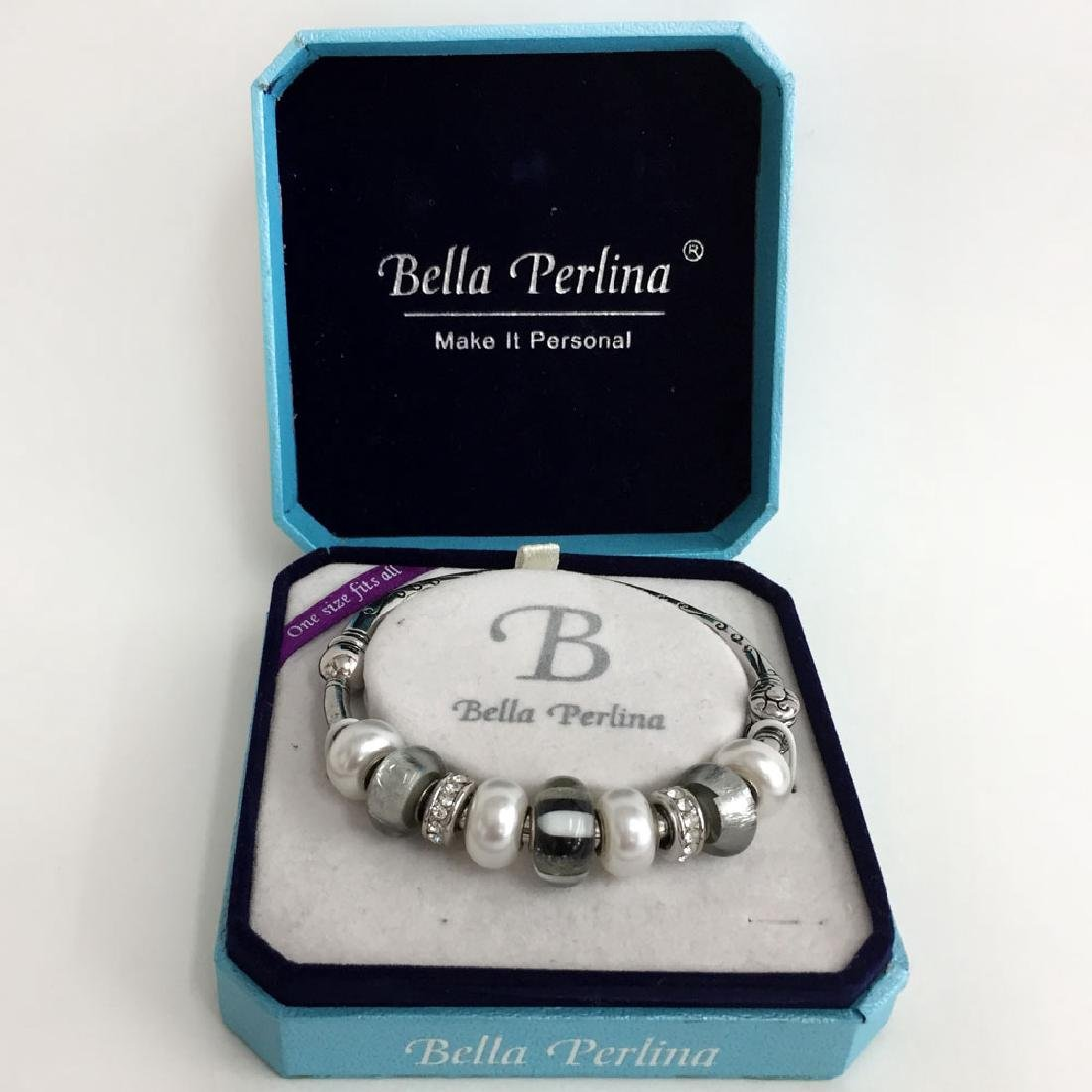 BELLA PERLINA: Silver tone bracelet with - 2