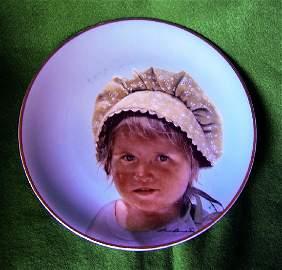 Leon Barnard Monday's Child Commemorative Plate