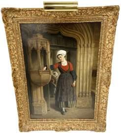 Sgd. Seignac Oil on Canvas Painting.