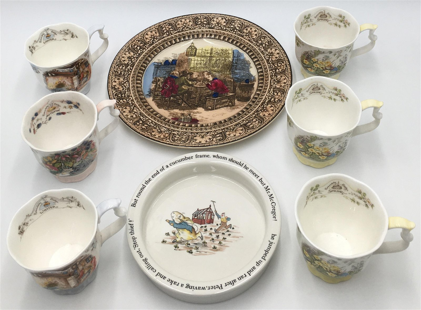 Lot of 8 China Pieces, Mostly Royal Doulton.