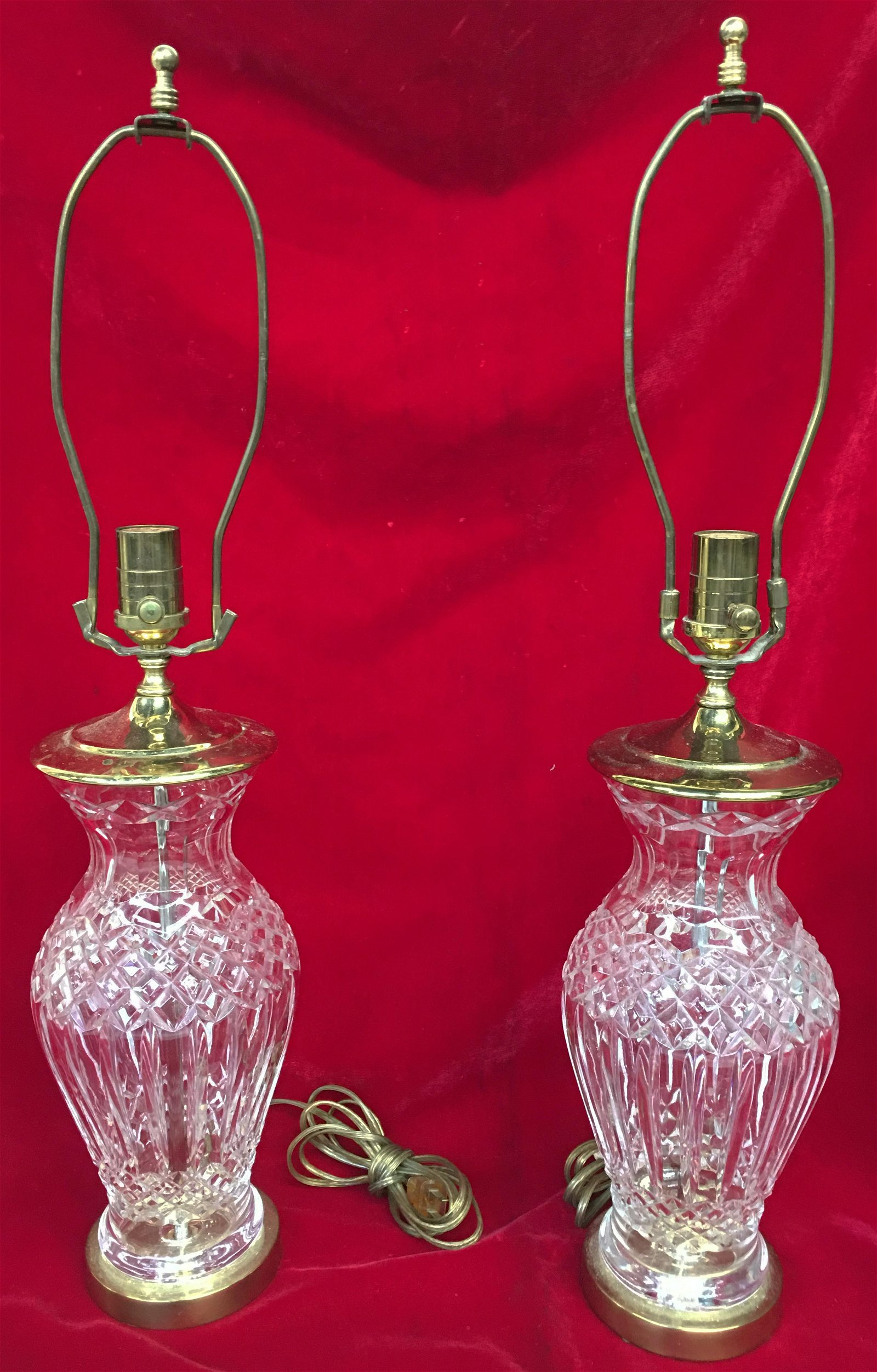 Pair of Waterford Crystal Table Lamps.