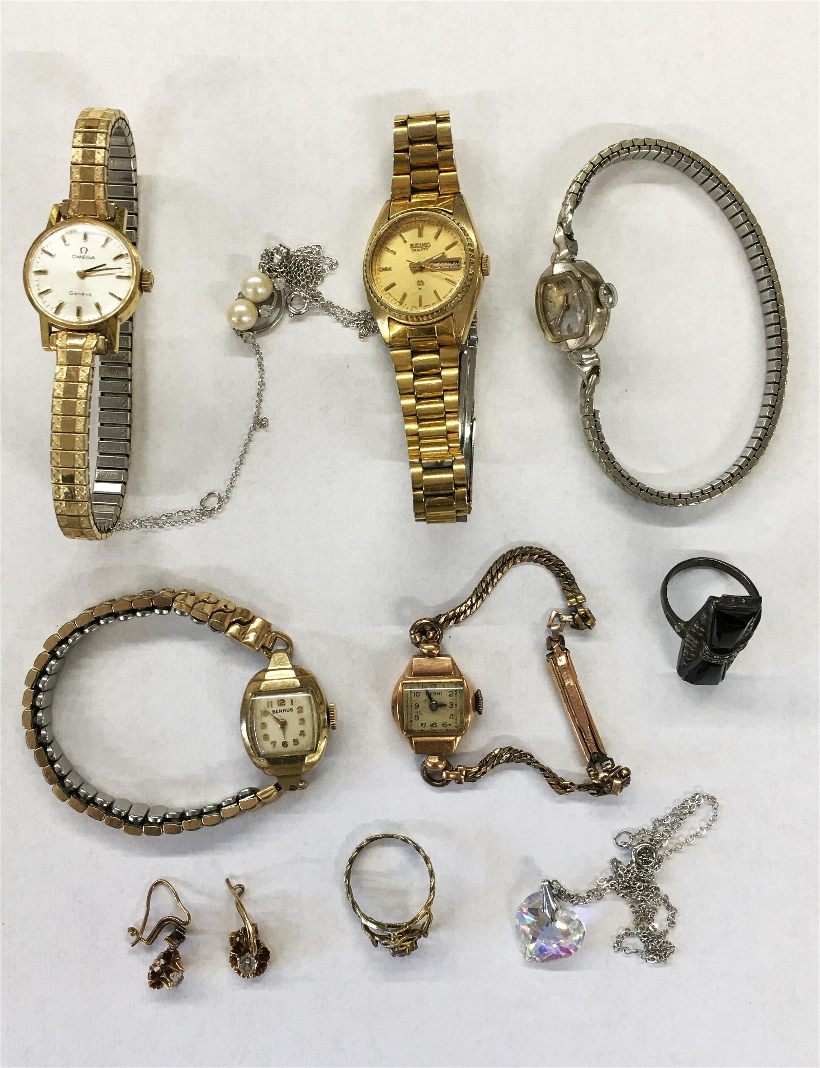 Lot of Asst. Ladies' Watches & Art Deco Ring.