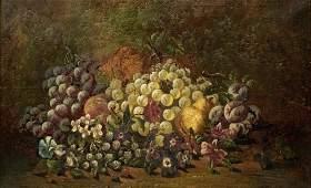 Charles Thomas Bale Still Life w/Fruits Painting.