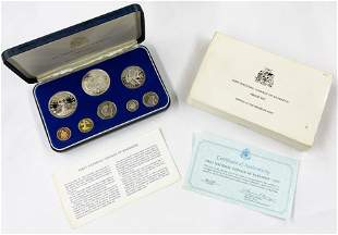 1973 Barbados Proof Set - Some Silver.