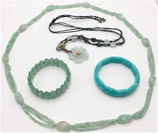 Lot of Mostly Jade Jewelry.