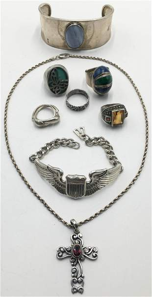 Lot: Mostly Sterling Silver Jewelry.