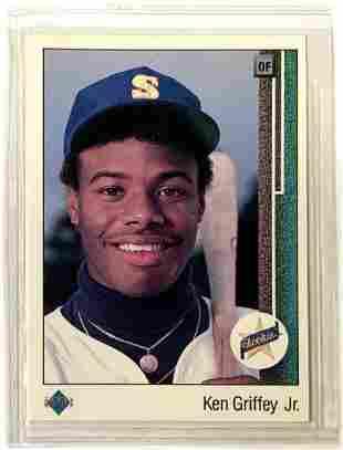 Ken Griffey, Jr. 1989 Upper Deck Rookie Card.