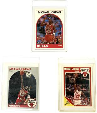 Lot of 3 Michael Jordan Basketball Cards.