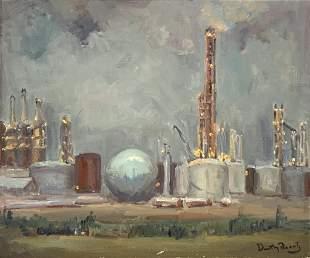 Dorothy Frantz Painting, Industrial Scene.