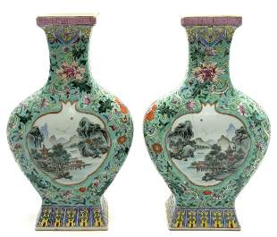 Pair of Old Chinese Porcelain Vases, As Is.