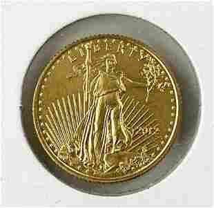 1/10 Ounce $5 U.S. Gold Eagle Coin.