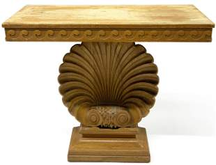 Edward Wormley Carved Shell Table.