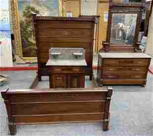 3 Pc. Eastlake Victorian Bedroom Set.