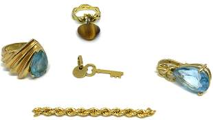 Lot of Gold Jewelry & Gold Scrap Piece.