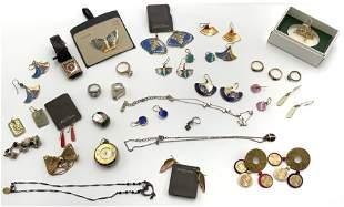 Lot: Laurel Burch Jewelry, Silver Jewelry, etc.