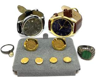 Lot of Asst. Jewelry, Watches, Pocketknife.