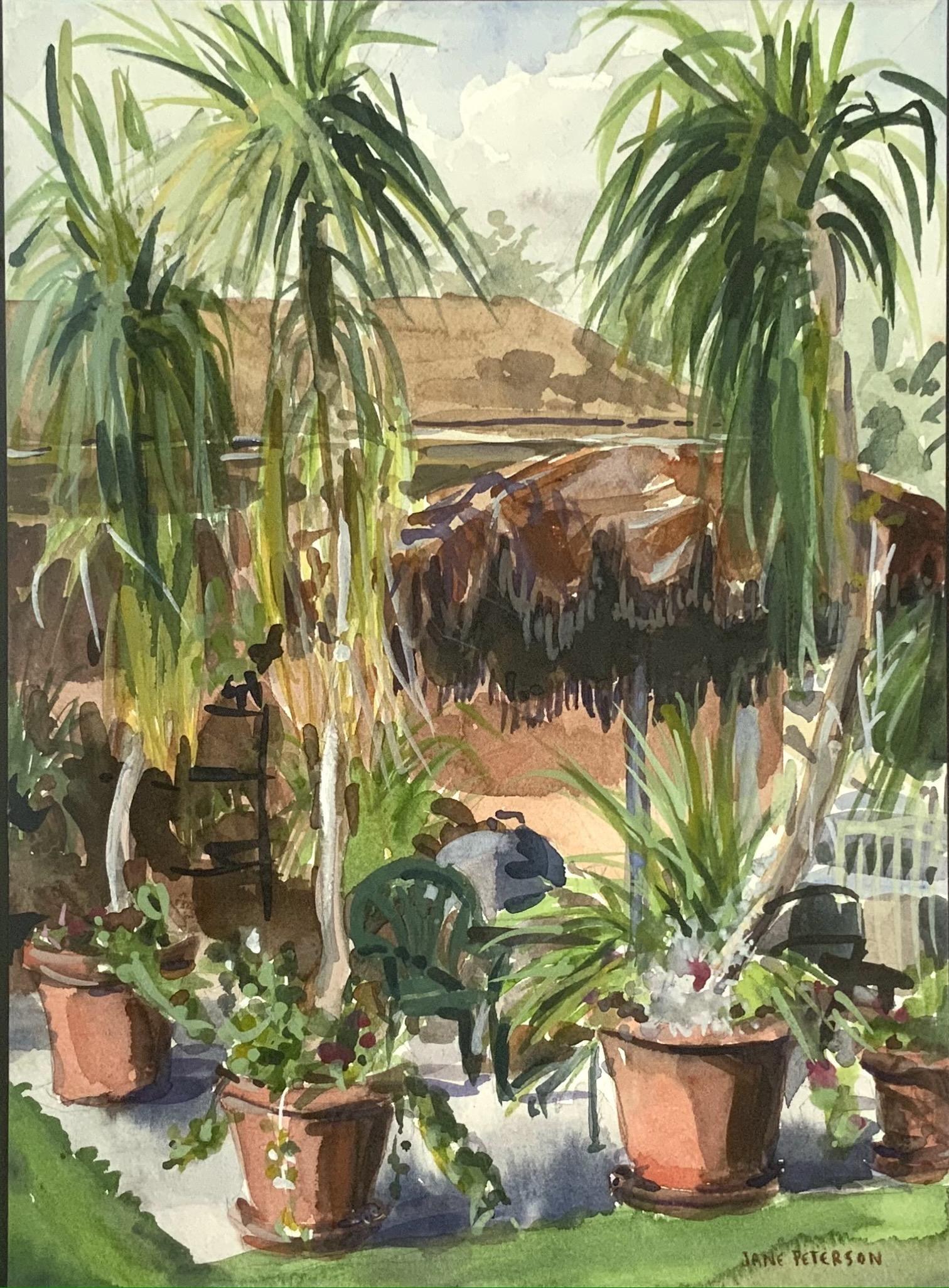 Sgd. Jane Peterson Watercolor.