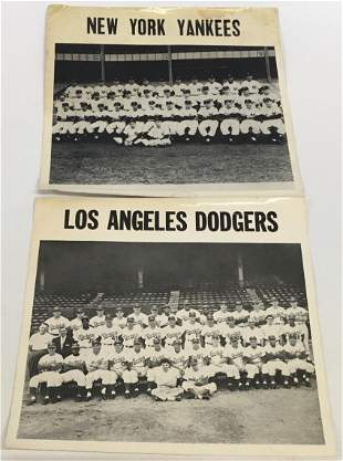 Lot: Two 1957 Team Photos - Yankees & Dodgers.