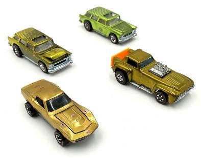 Lot of 4 Hot Wheels Redline Cars.